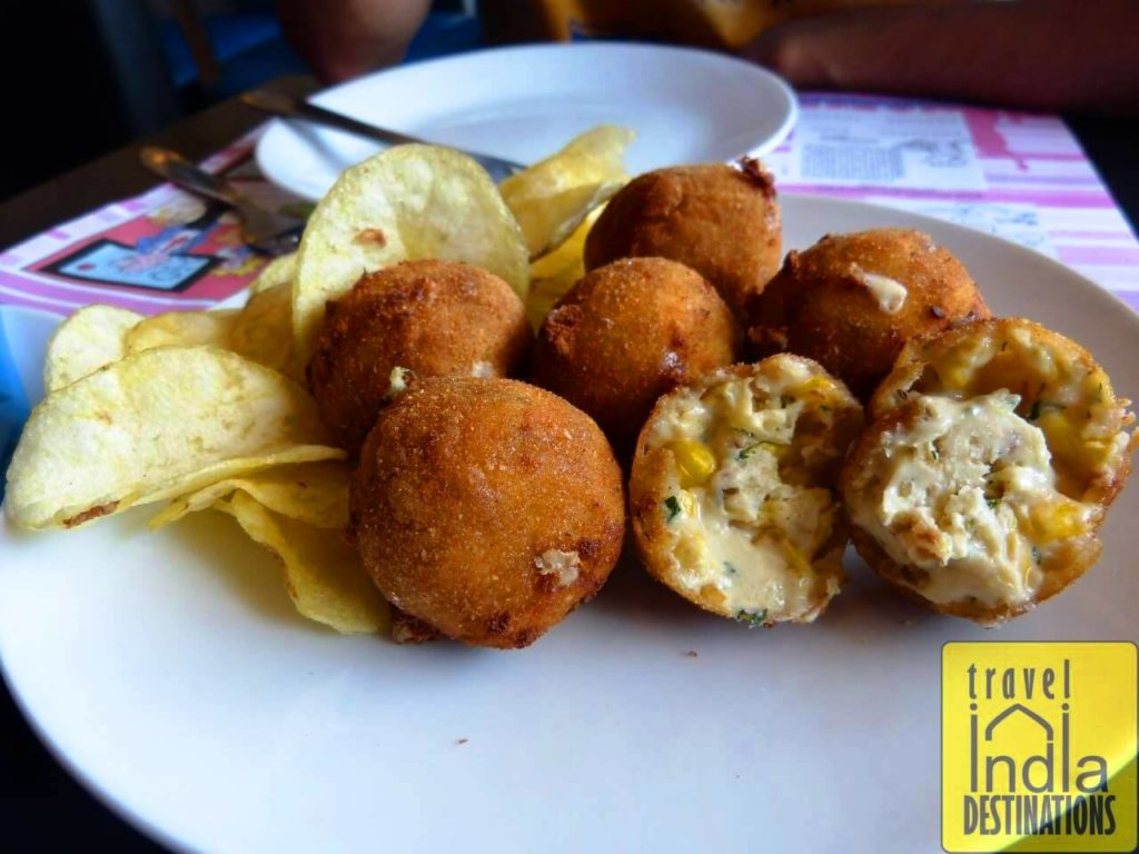 American Cheese Corn Balls at New Yorker