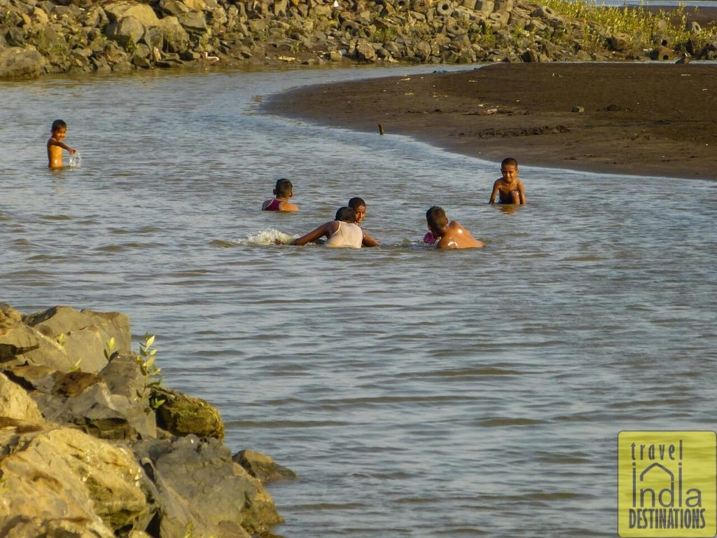 Children Playing in the Shallow Area