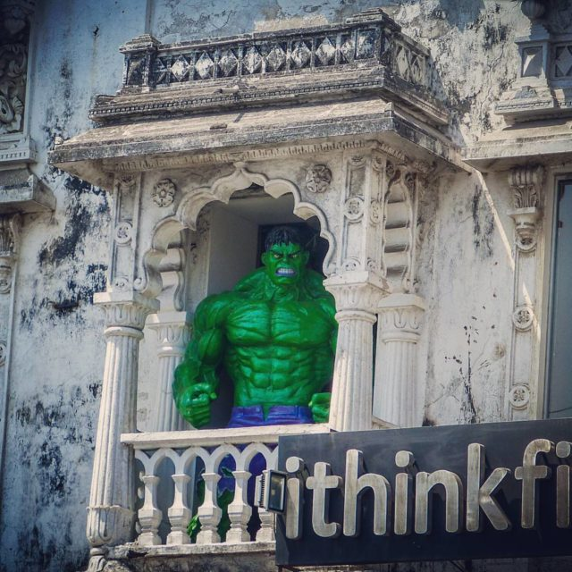 When you place Hulk on a window for princess hehellip