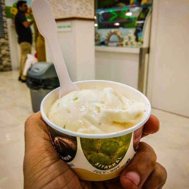 Enjoying some shrikhand ice cream at Naturals naturalsicecream naturalsicecreams naturalshellip