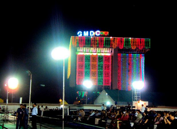 GMDC Grounds Garba in Ahmedabad