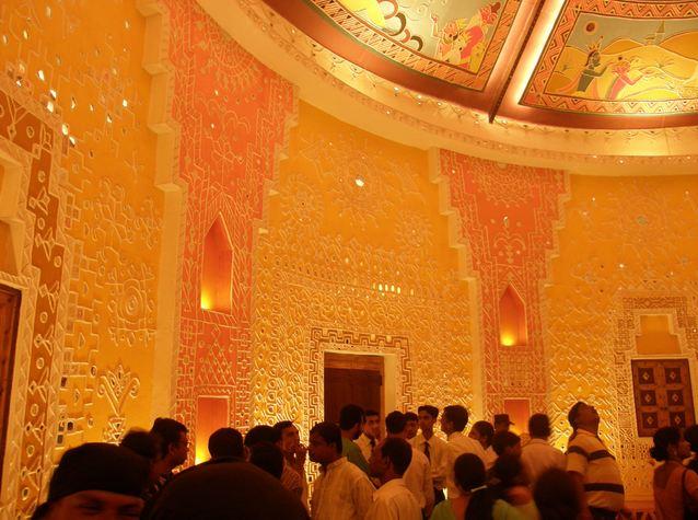 Interiors of Suruchi Sangha Durga Puja Club