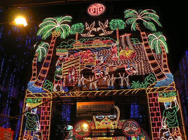 Light Effects at Ekdalia Evergreen Durga Pujo Club