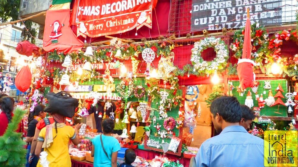 Christmas Decoration Stall at Hill Road