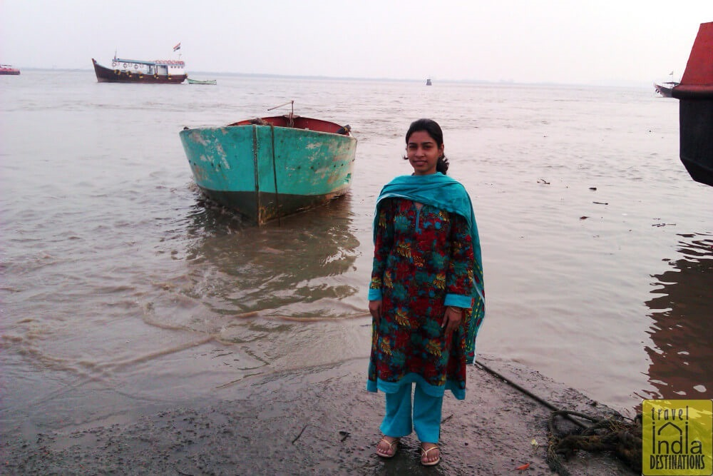 Sarah at Vasai Creek