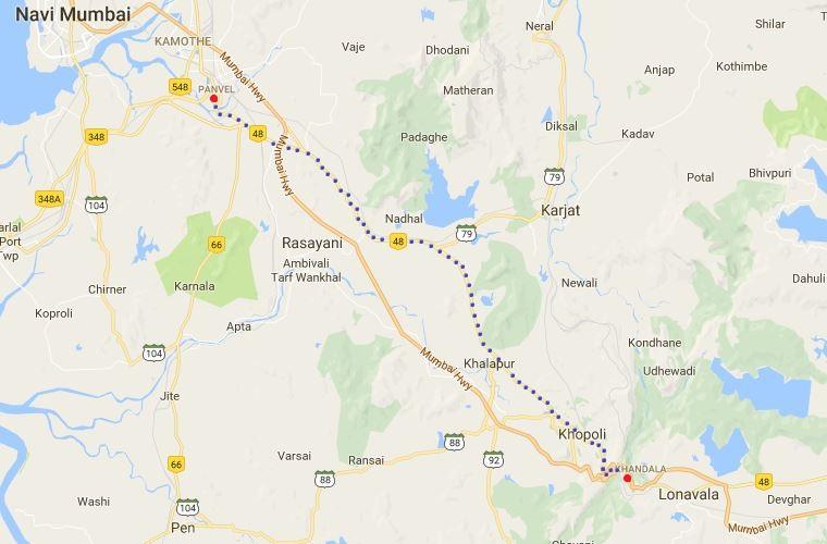 Khandal Panvel Road Map