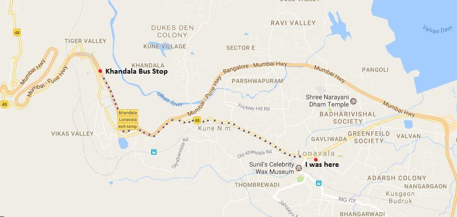 Lonavala Khandala Road Map