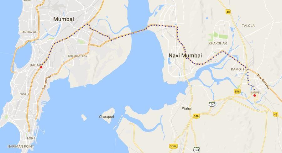 Panvel Dadar Road Map