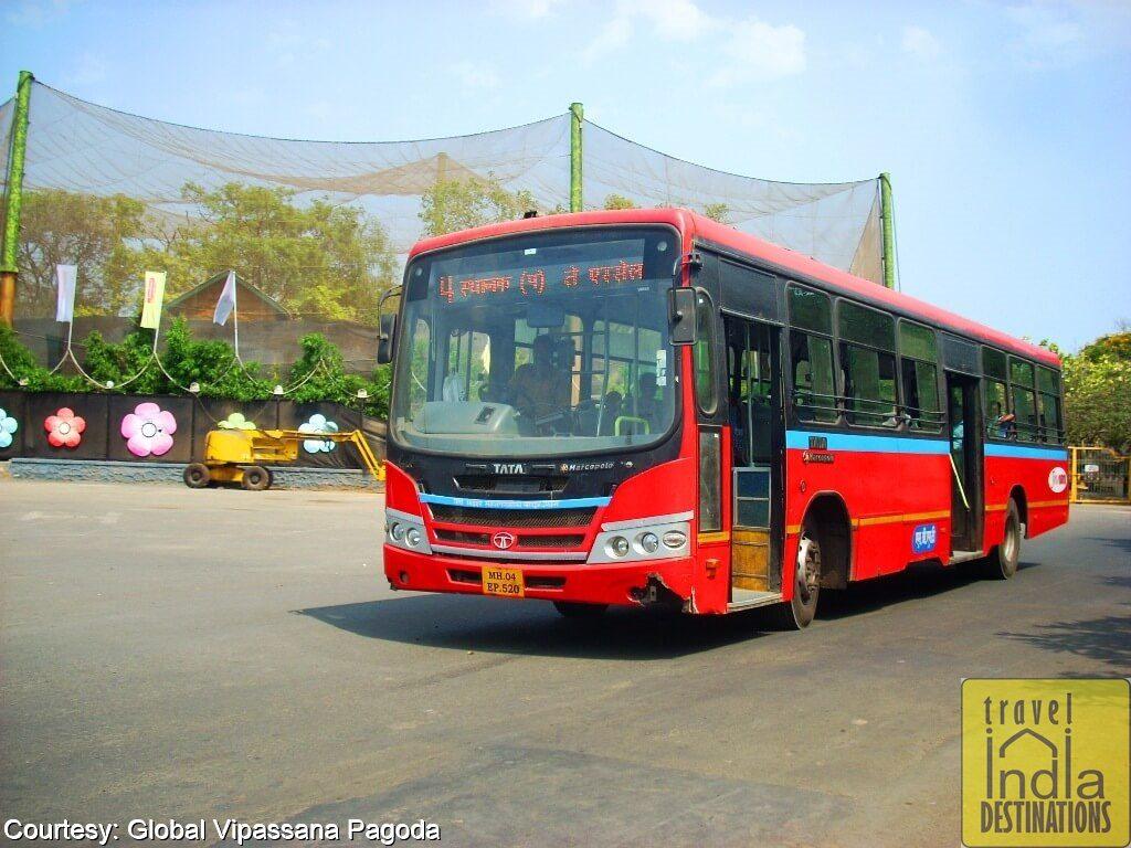 Bus for Global Vipassana Pagoda