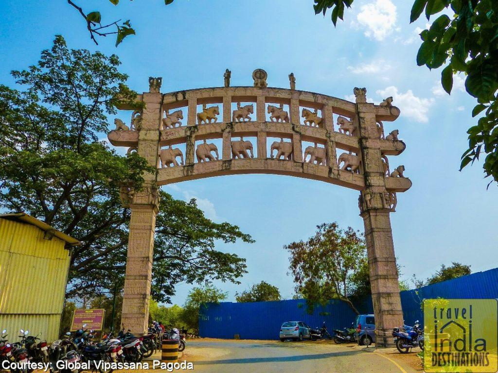 Sanchi Stupa Gate Global Pagoda