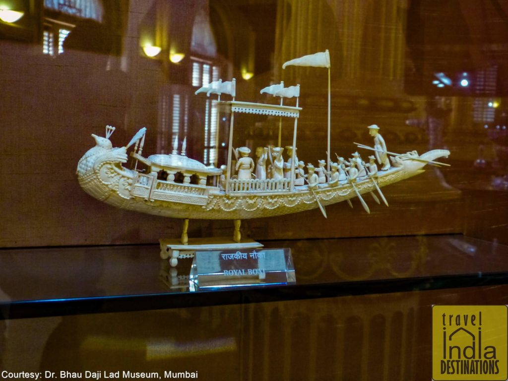 A Stunning Ivory Royal Boat