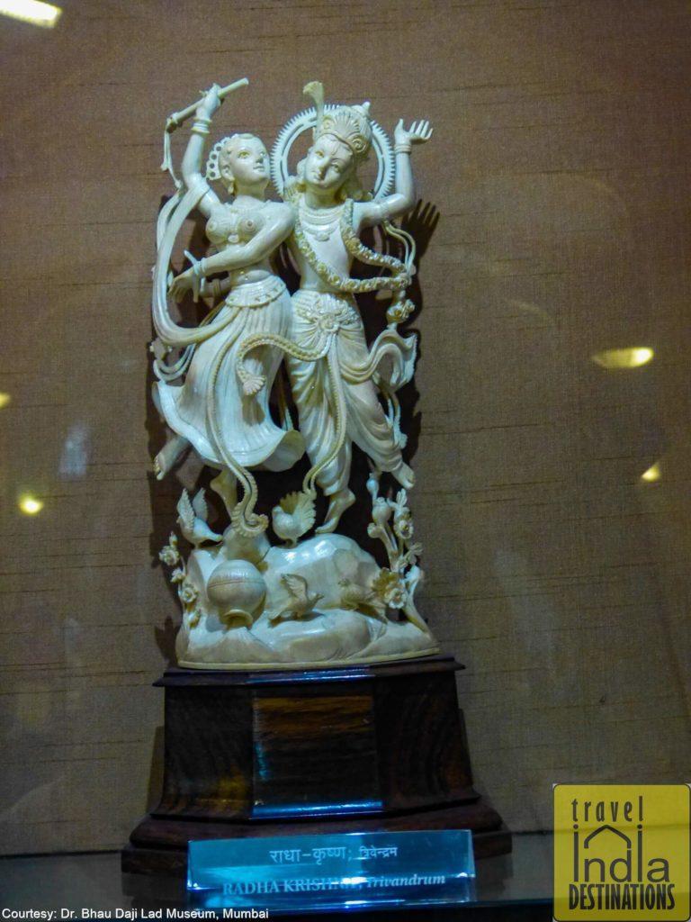 A Radha Krishna Ivory Statue