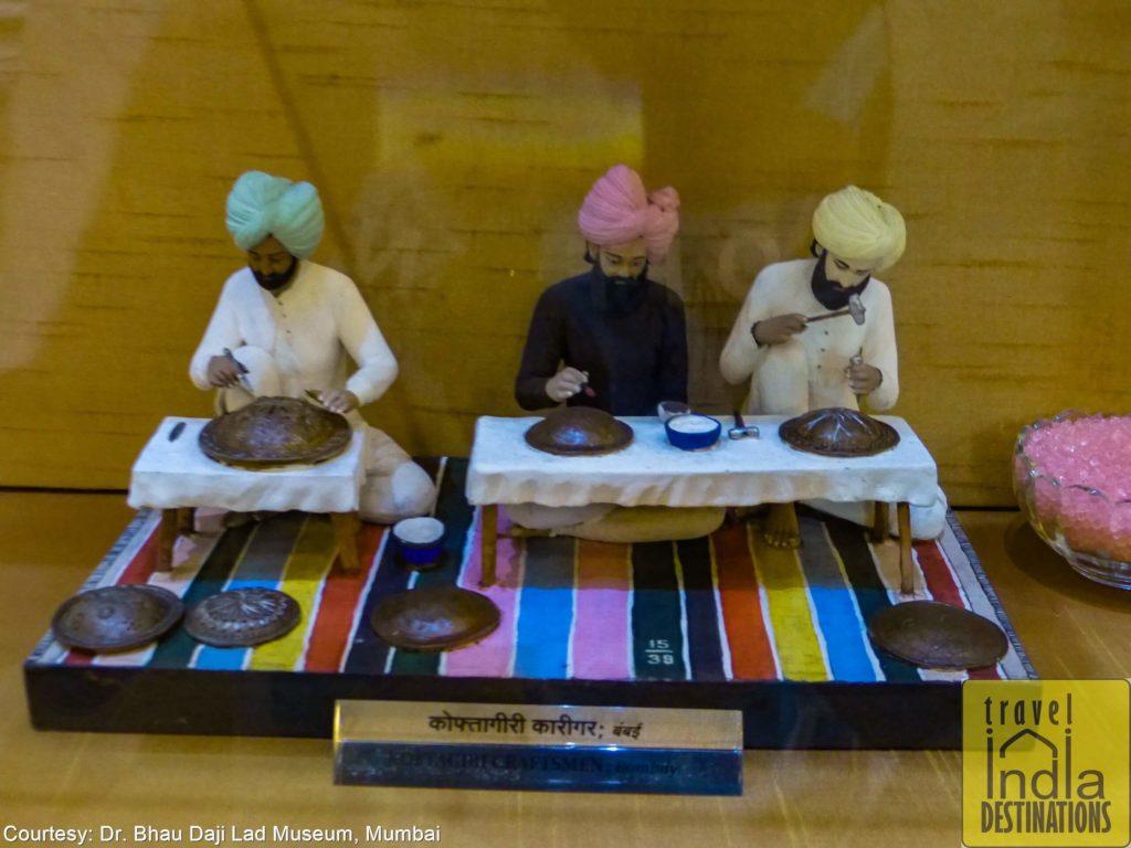 Koftagiri Craftsmen Working in Bombay
